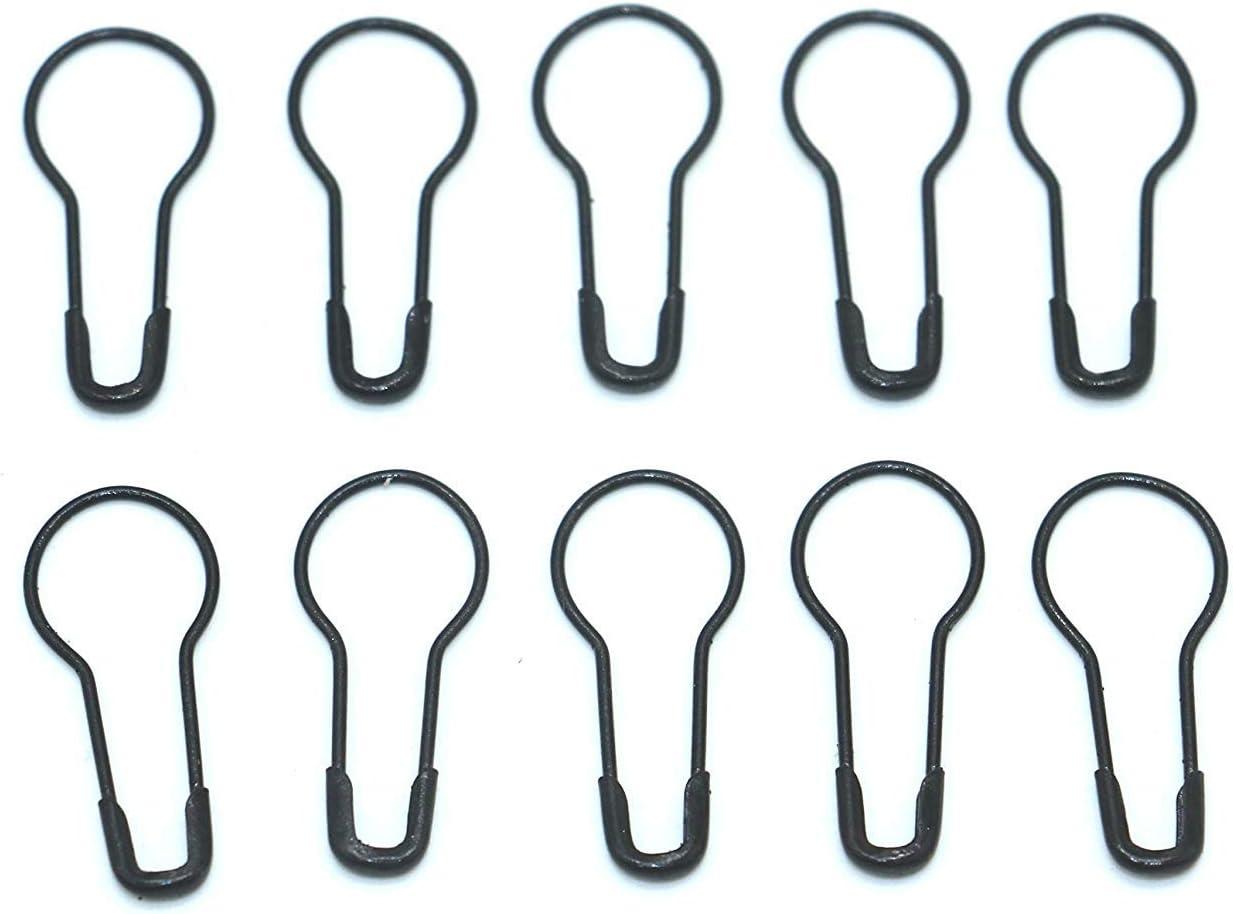 1000Pcs Metal Black safety Pins/Gourd Pin/Bulb Pin For Clothing Crafting and DIY,Black