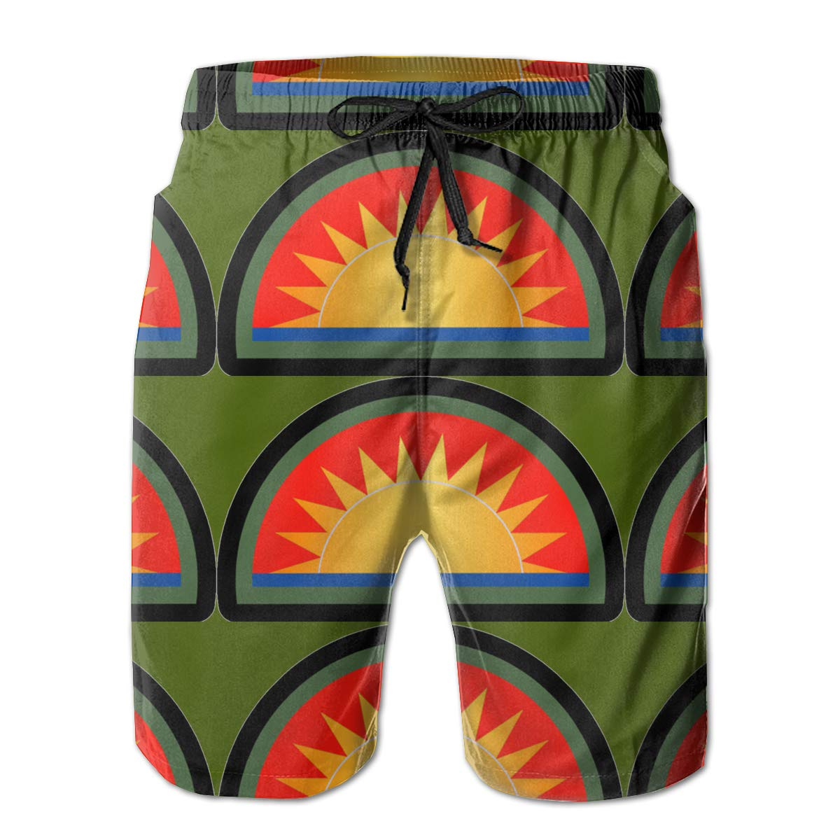 41st Infantry Division Mens Swim Trunks Bathing Suit Beach Shorts