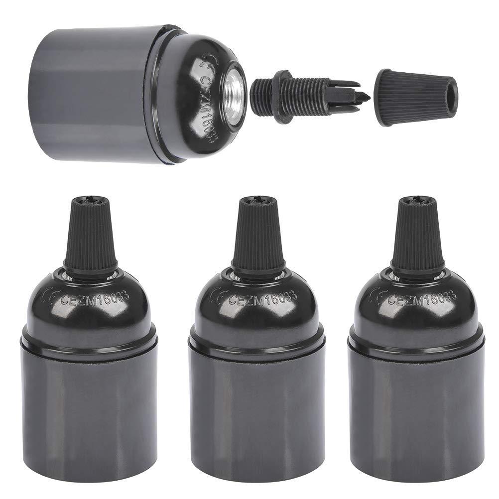 Black 8 Pcs Bakelite Built in Switch Vintage Lamp Light Bulb Holder E27//E26 Bakelite Lamp Holder Vintage Light Bulbs Holder Bakelite Light Holder