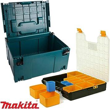 Makita 821551-8 MakPac - Caja organizadora de herramientas (41 cm ...
