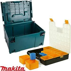 Makita 821551-8 MakPac - Caja organizadora de herramientas (41 cm, con compartimento): Amazon.es: Bricolaje y herramientas