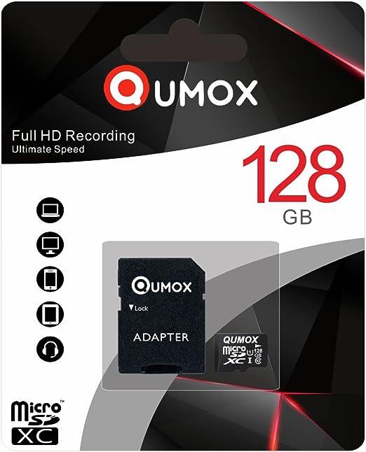 Qumox 128gb Micro Sd Memory Card 128 Gb Highspeed Write Elektronik