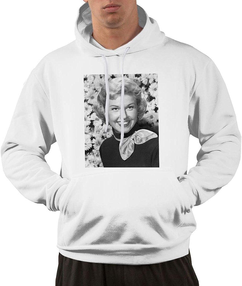 JEEZORN Fashion Doris Day Hoodie Sweatshirt for Mens Black