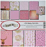 Reminisce (REMBC) OBG-200 Oh Baby Girl Scrapbook Collection Kit, Multicolor