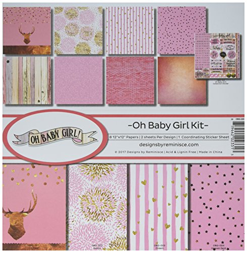 Reminisce (REMBC) OBG-200 Oh Baby Girl Scrapbook Collection Kit, Multicolor by Reminisce (REMBC)