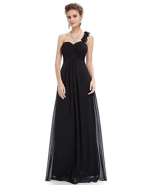 977fff605e0 Ever Pretty One Shoulder Maxi Long Bridesmaid Dresses for Women 8UK Black