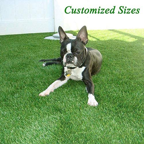 GL Artificial Grass Mats Lawn Carpet Customized Sizes, 35MM Thick Faux Grass, Synthetic Rug Indoor Outdoor Landscape 11FTX13FT 143 Square FT