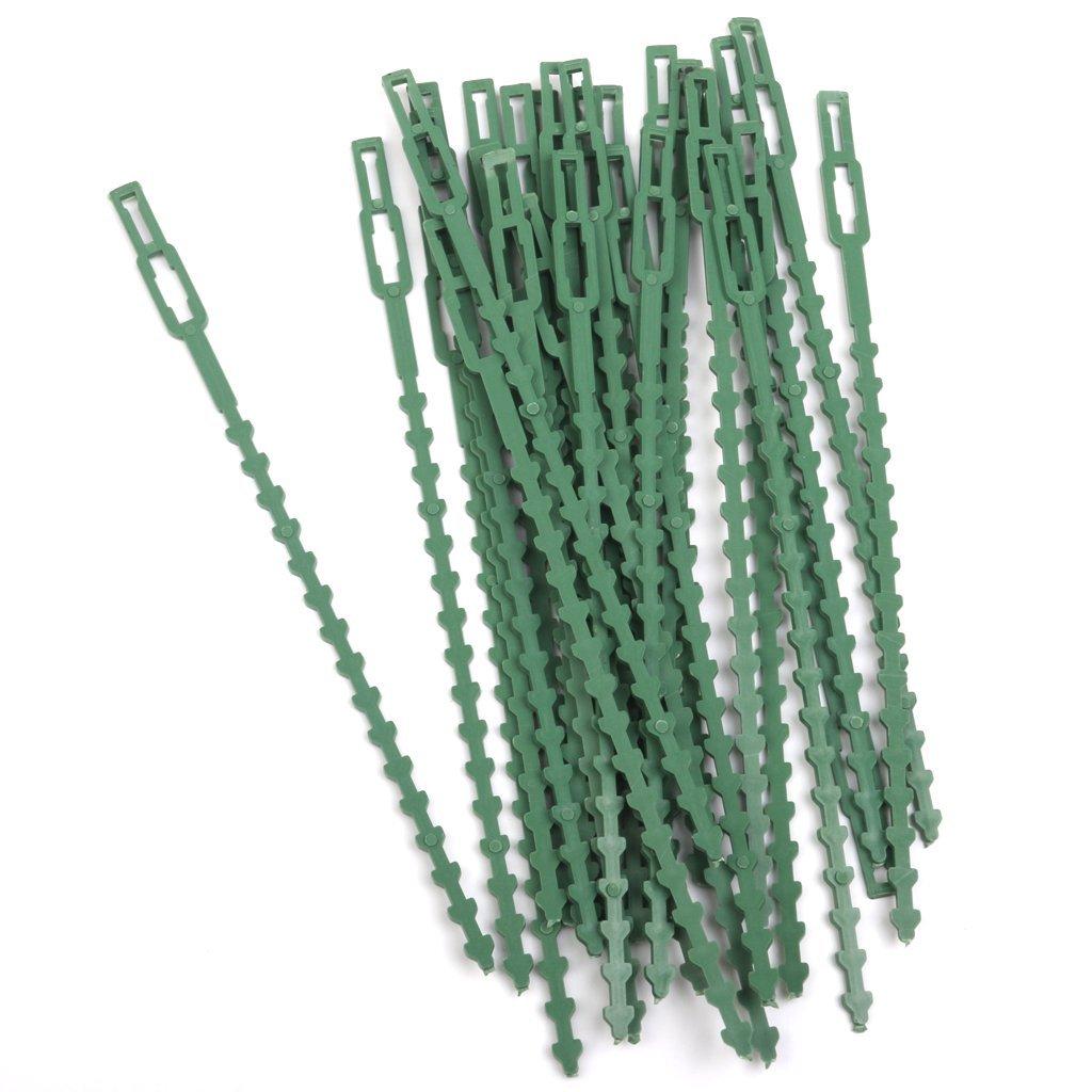 Vert Hangqiao Lot de 30pcs 16.5cm Serre-c/âble Lien en Plastique pour Jardinage Bricolage