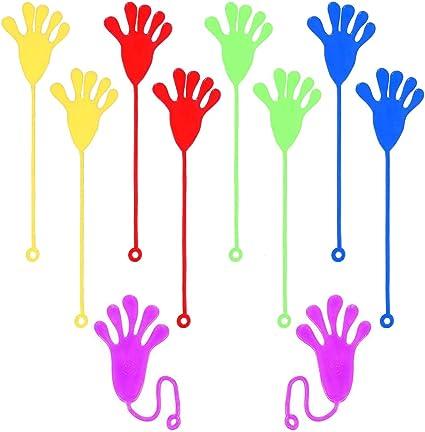 REYOK 10pcs Sticky Sticky Fingers Manos Escalada Palmas Pegajosas Jalea Manos Juguete(Color al Azar)