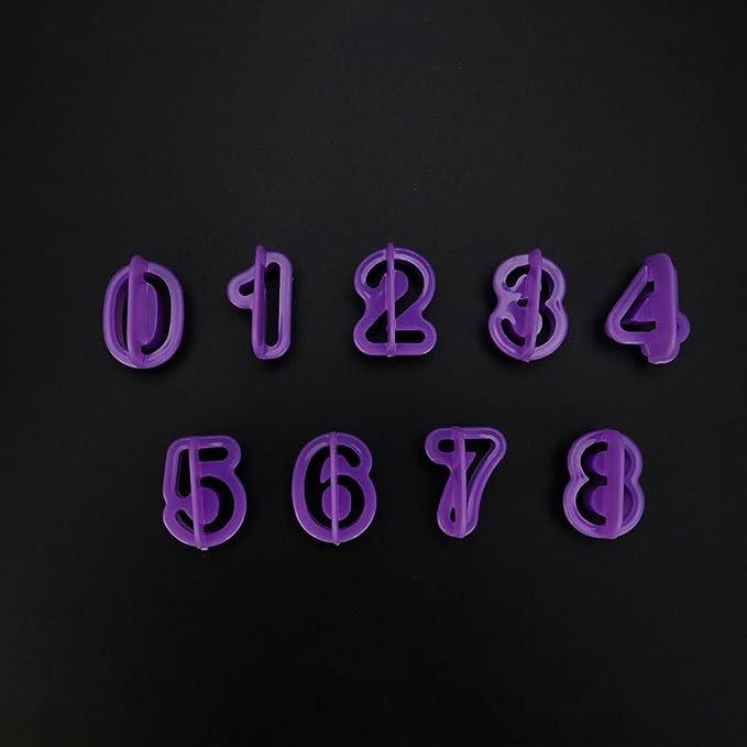 zomup 40pcs alfabeto número carta cutter mold - Molde para Fondant cumpleaños boda decoración de pasteles para hornear herramientas Set: Amazon.es: Hogar