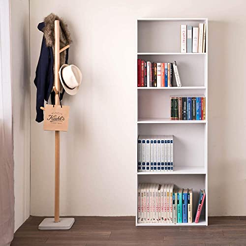 Frama Heavy Duty DIY 5-Shelf Storage Bookcase Premium Laminated Ultra Thick Particle Board Organizer