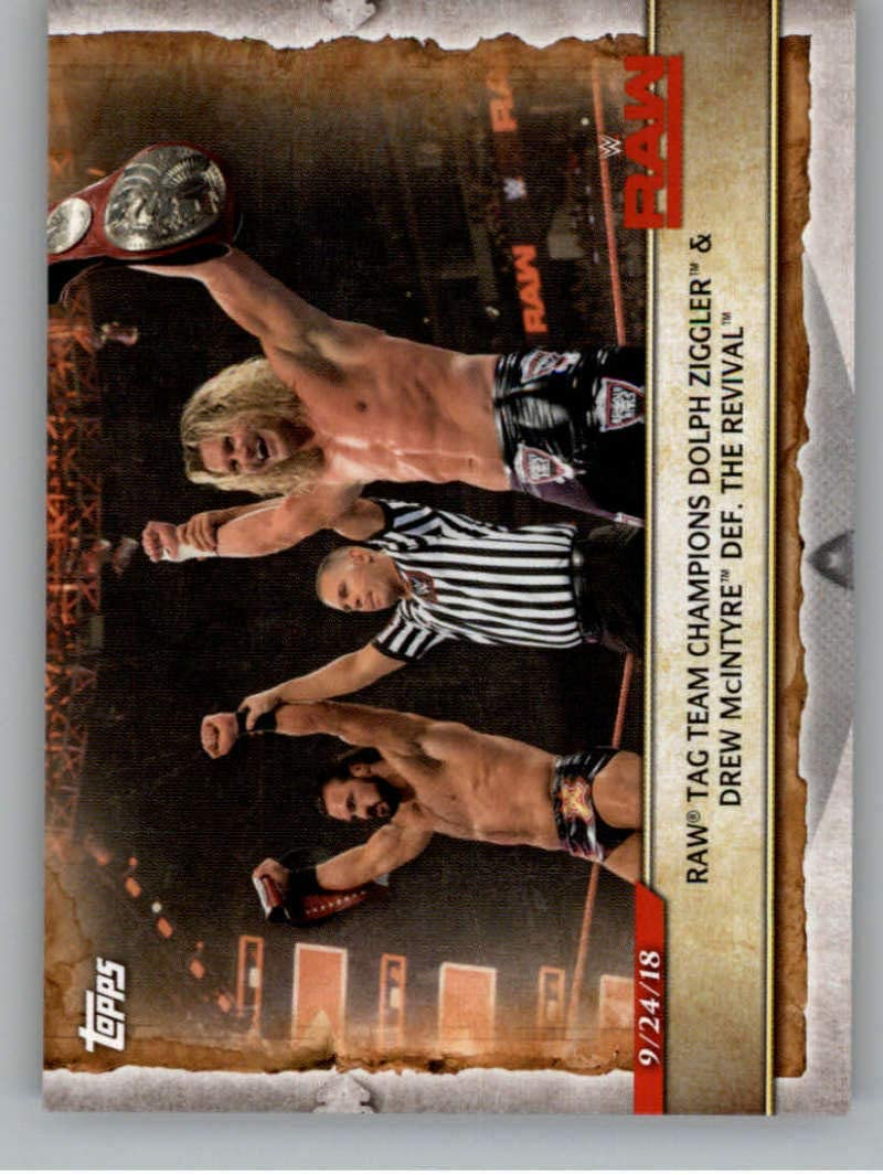 2020 Topps WWE Road to WrestleMania #19 Dolph Ziggler and Drew McIntyre Wrestling Trading Card