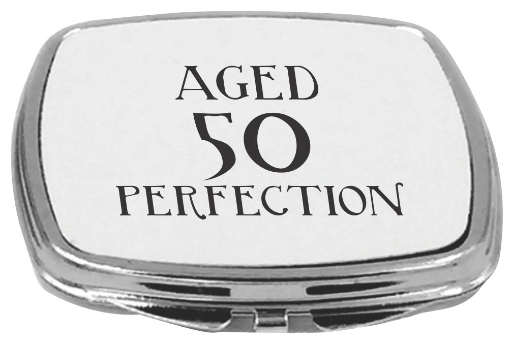 Rikki Knight Compact Mirror, Aged 50 Perfection Birthday, 5 Ounce
