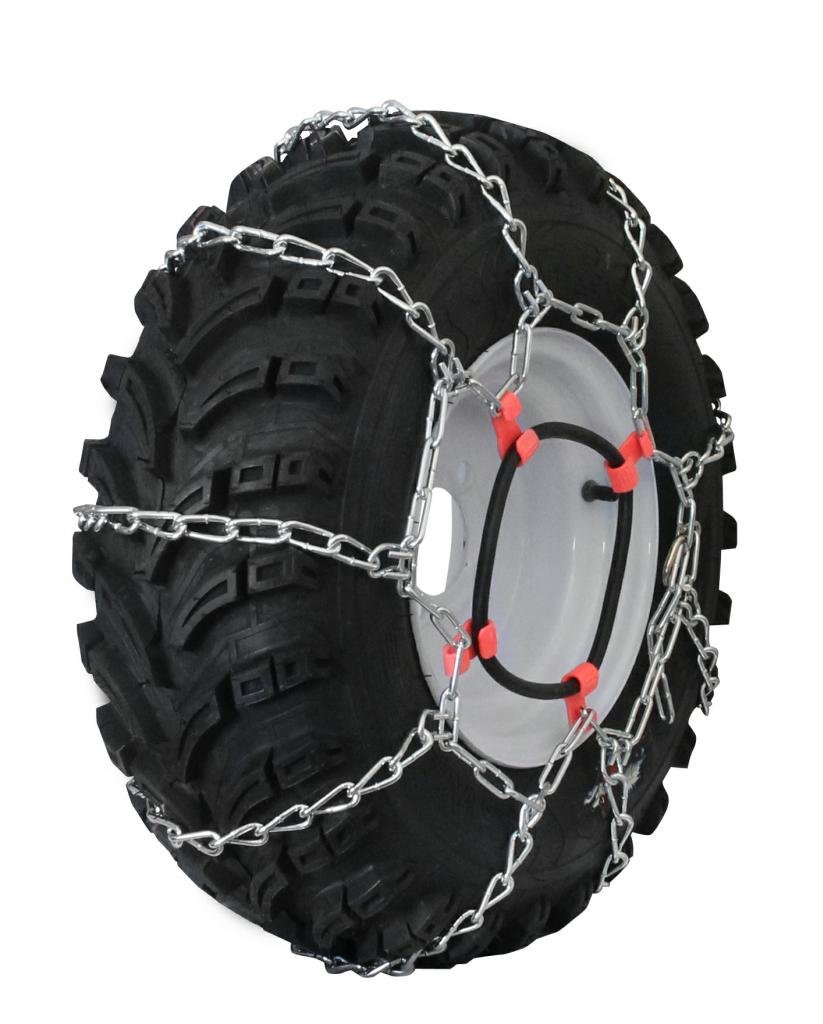 Grizzlar GTU-427 Garden Tractor 4 Link Ladder Alloy Tire Chains Tensioner included 22x11.00-8 23x10.00-12 23x10.50-12 24x9.50-12