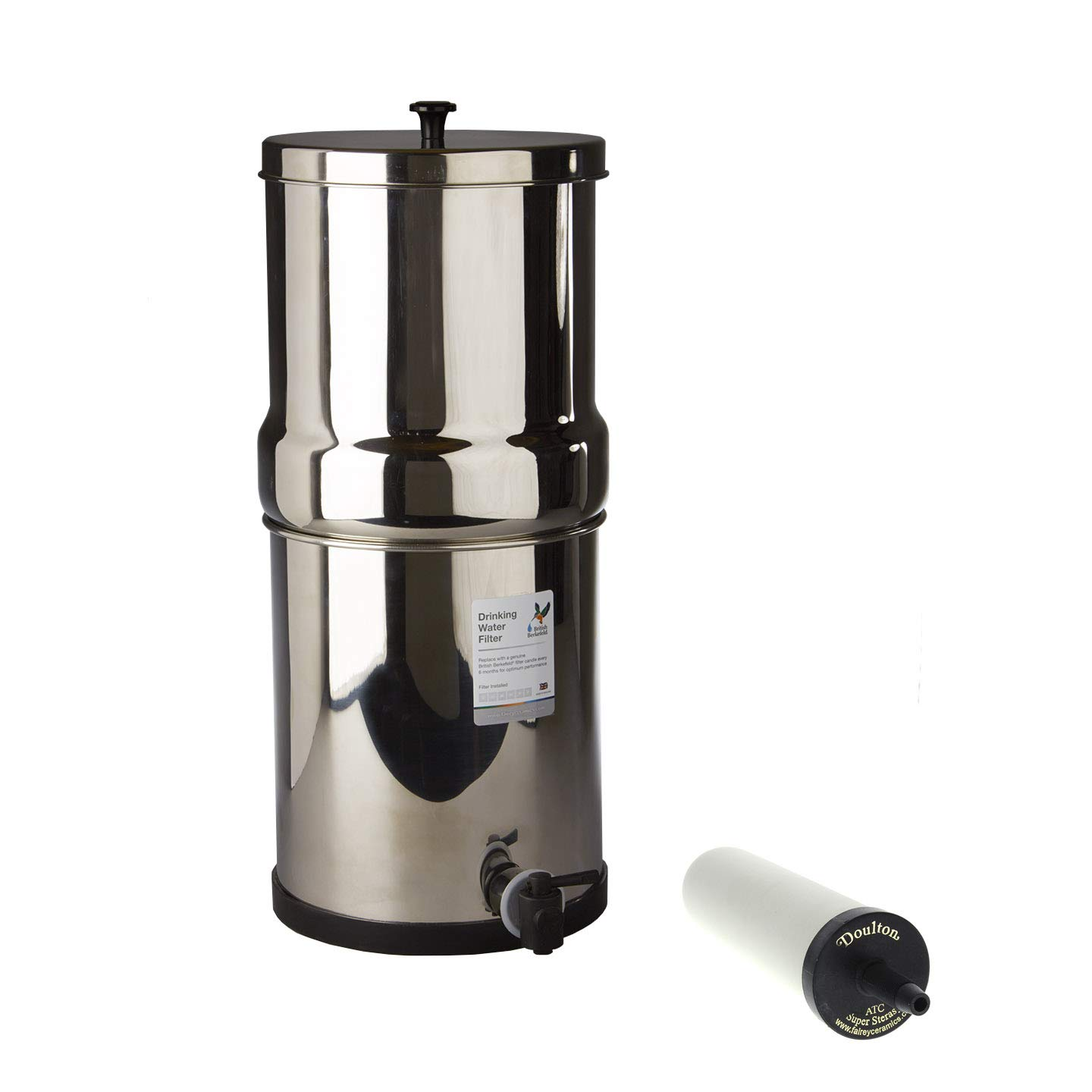 Doulton W9361123 Stainless Steel Gravity System with ATC Super Sterasyl Candle Filter