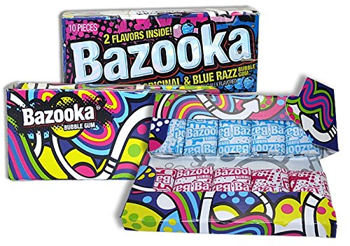 BUBBLE GUM BAZOOKA 2.5OZ by BAZOOKA MfrPartNo (Bubblegum Bazooka)