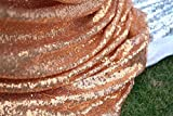 10 pieces 120cmx300cm Rose Gold Sequin Tablecloth Sequin Table Linens For House/Party Decor