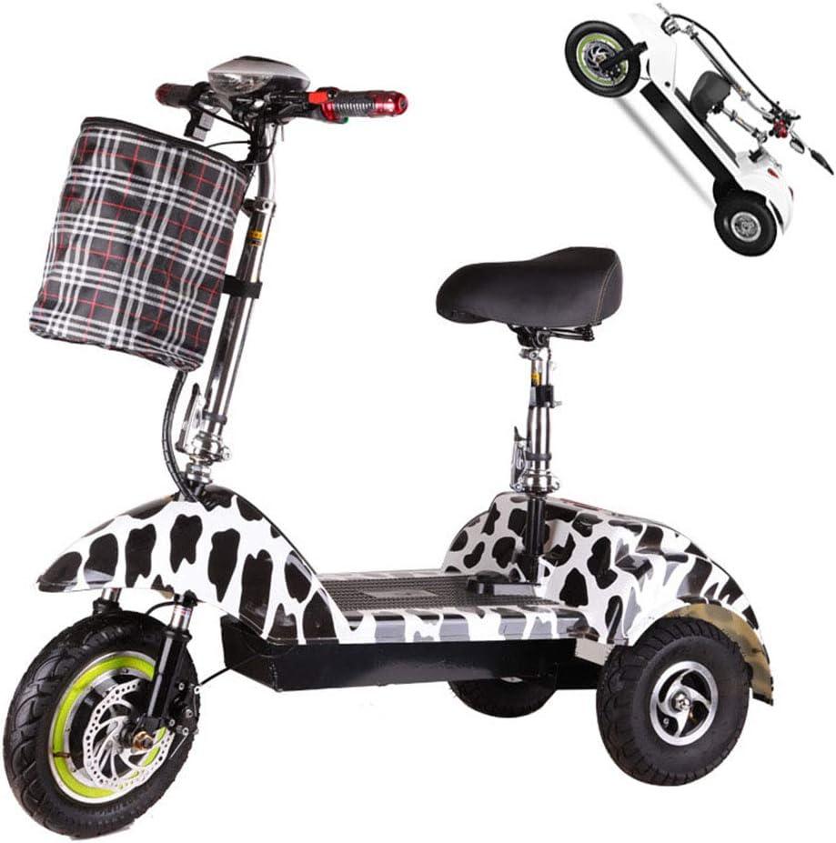 Z-HBMT Triciclo eléctrico Adulto,Scooter 3 Ruedas para Adultos 150 kg Carga máxima con 25km/H, batería de Litio 36V 10AH, impulsión de Motor Dual 2400W con luz LED y Pantalla HD,40km Range