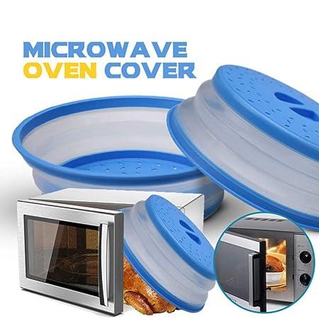 Cubierta de microondas plegable, tapa de silicona para ...