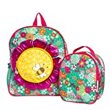 American Girl Wellie Wishers (2 Piece Set) Lady Bug Backpack For Girls and Insulated Lunch Bag for Kids, Travel, School, Kids Backpack Set