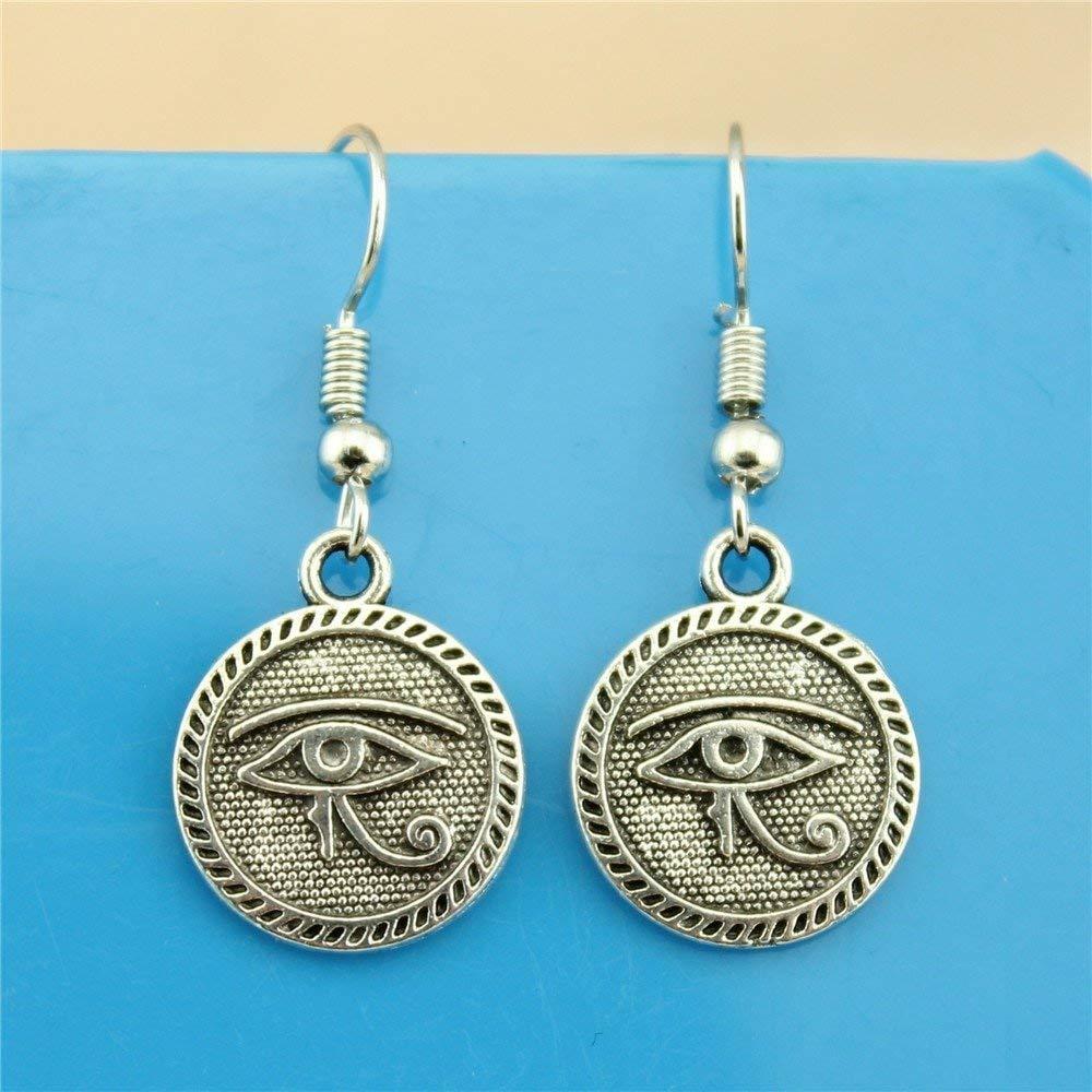 Taliyah 1 Pair Eye of Horus Drop Earrings for Girls with Earring Backs Stopper