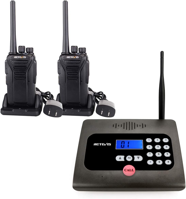 Retevis RT57 Intercoms Wireless Full Duplex Caller ID Long Range Wireless Intercom System for Business (1 Pack) and RT27 Walkie Talkie(2 Pack)