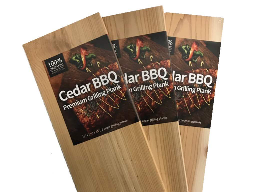 Cedar BBQ Company Premium Cedar Planks - 60 Pack Set - Extra Large 5.5'' x 15'' - Western Red Cedar - Add Flavor to Steak, Burgers, Salmon by Cedar BBQ Company
