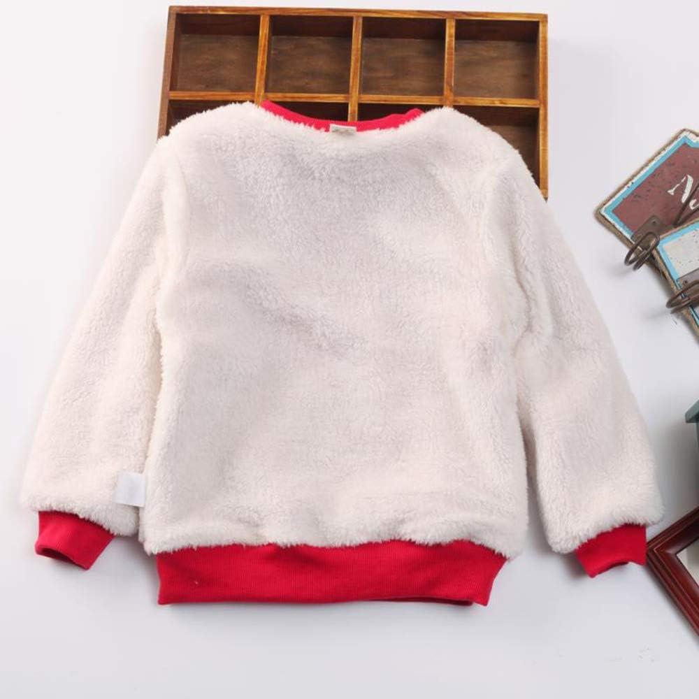 DDSOL Baby Boys Sweatshirt Christmas Reindeer Fleece Lining Sweaters Winter Warm Pullover Shirts 2T-7T