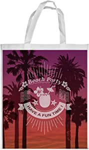 beach party Printed Shopping bag, Large Size