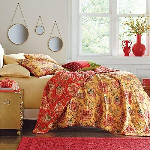 Brylanehome Barika Reversible Quilt (Sunset Gold,Full/Queen) (Sunset Quilt Pattern)