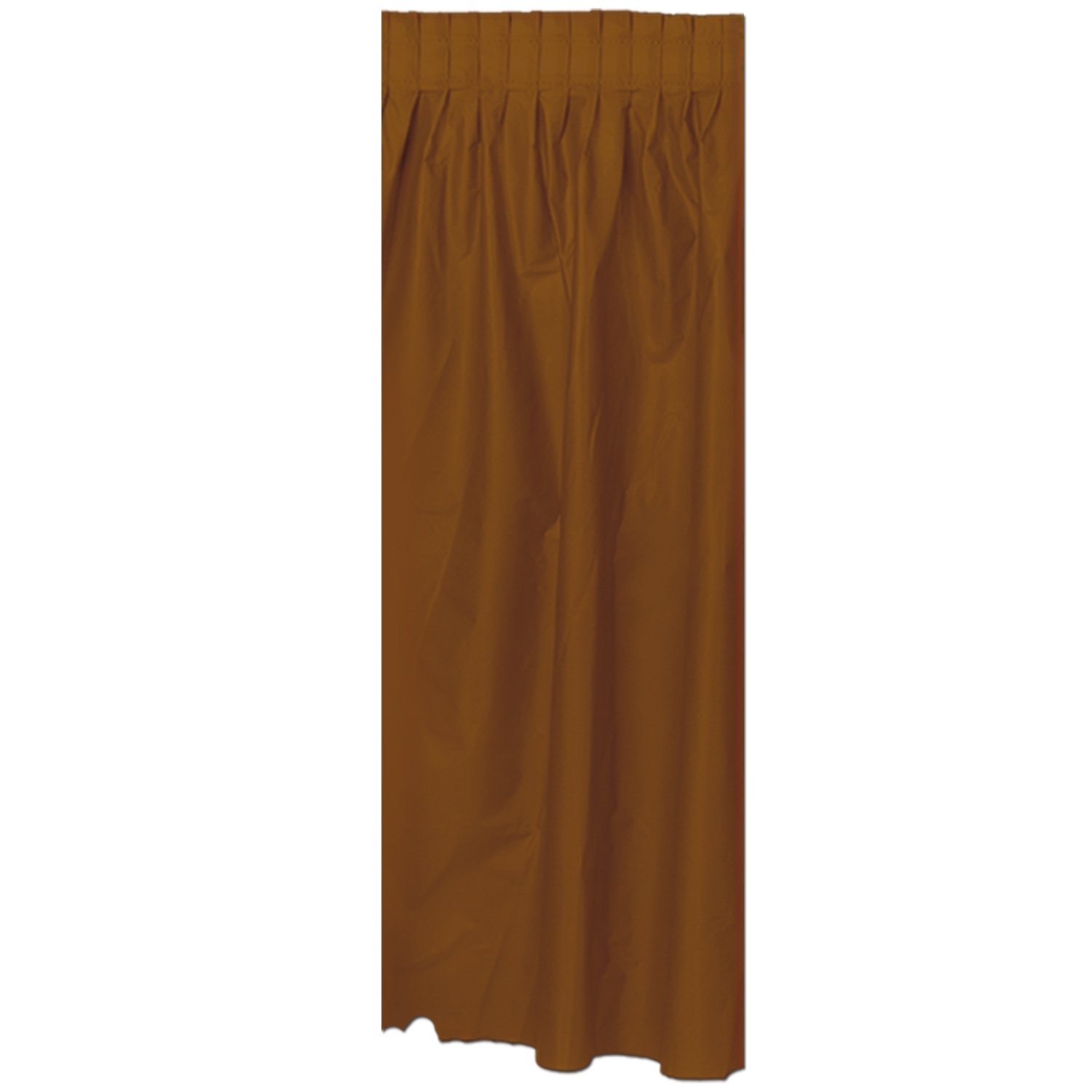 Party Accessory Masterpiece Plastic Table Skirting The Beistle Company 50950-BR chocolate brown 1//Pkg 1 count