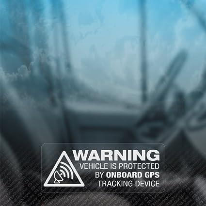 Pegatinas de advertencia de vehículo con localizador GPS para ventanas. Con leyenda en inglés. Ideal para coches, autocaravanas o motocicletas. 3 ...