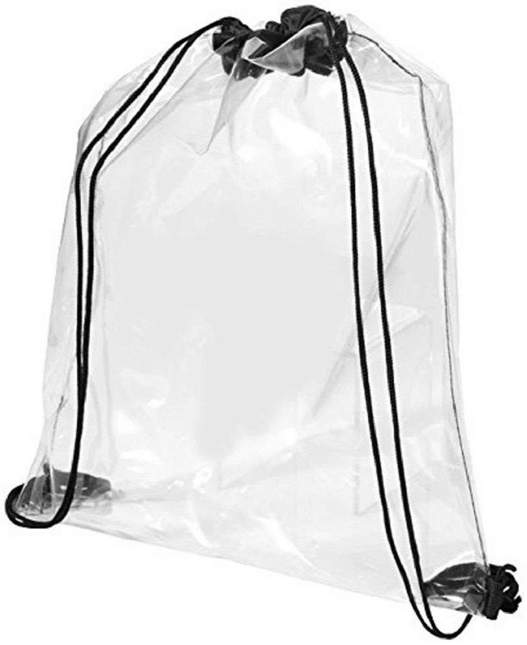 Bolsa transparente de cuerdas elaborada en PVC de alta calidad.