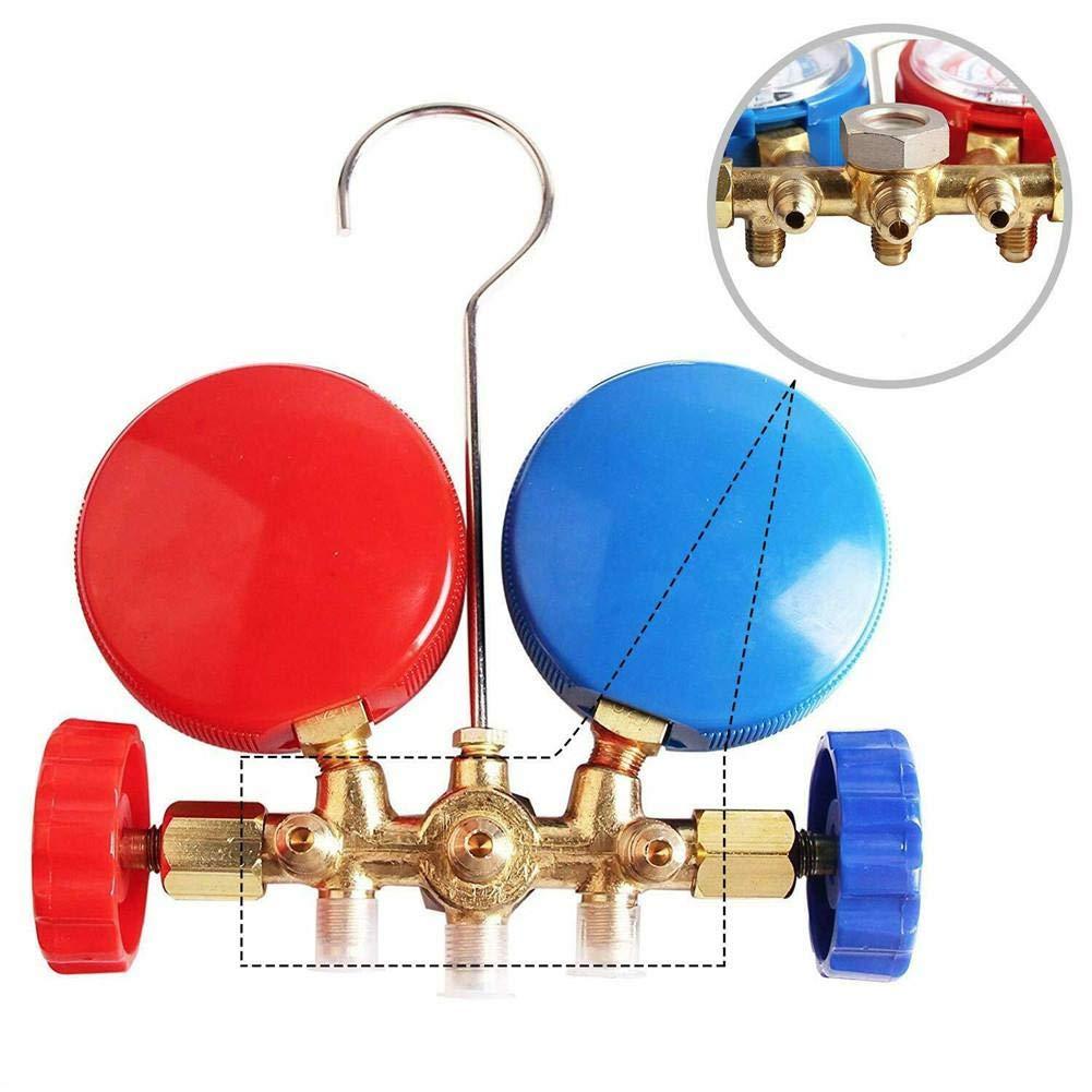 Set misuratore di collettore di diagnostica AC per refrigeranti R134A R12 R22 R502 con raccordi rapidi e Adattatore per Aria condizionata Acme