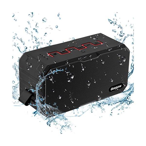 Enceinte Bluetooth Haut Parleur Bluetooth Waterproof Sans Fil Portable - Deepow 10W Enceinte Bluetooth Speaker Puissante étanche IP67 3000mAh Compatible Android iPhone TV et Autres Appareils Bluetooth 1
