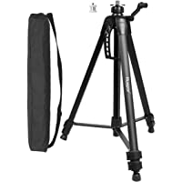 """Huepar Tripod 1.6m/5.2ft Flat Head Aluminum Tripod for Laser Level, with Handle and Bubble Level, with 5/8""""-11 Male…"""