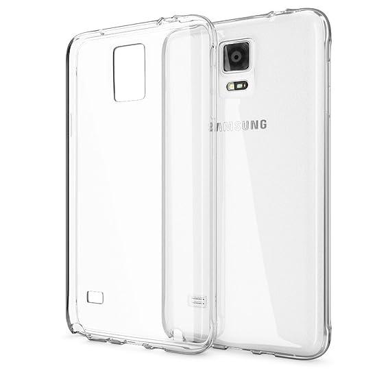 NALIA Handyhülle kompatibel mit Samsung Galaxy Note 4, Slim Silikon Case Hülle Cover Crystal Clear Schutzhülle Dünn Durchsich