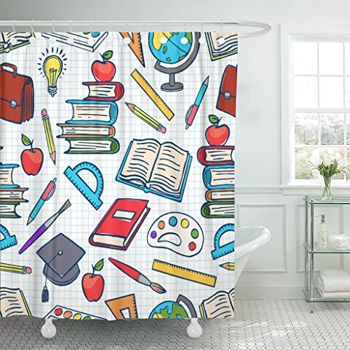 School Supplies Shower Curtain