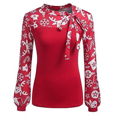 Blusa Navideña Jersey Navideño Jersey Navideño Suéter Feo Sudaderas Vintage Divertidas Suéteres Moda para Mujer Navidad Impreso Tops Manga Larga Tops Niñas ...