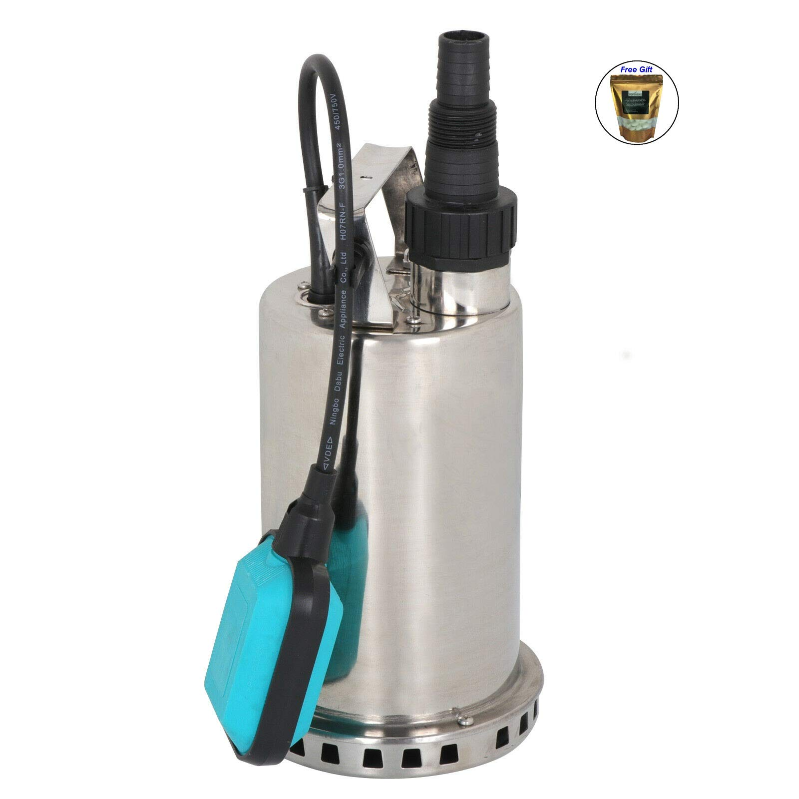 Eight24hours 3000GPH 1HP Water Submersible Pump Utility Pump Pool Pond Flood Drain Dirty Only by Eight24hours