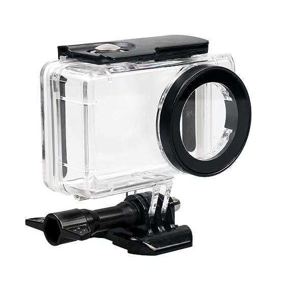 flycoo funda cubierta impermeable para Xiaomi mijia 4 K Mini cámara de acción claro con tornillo de fijación y Base
