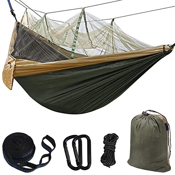 BOBOLINE Hammock Camping Single and Double with Mosquito and Bug Net – The Budget Friendly Hammock That Comes With A Mosquito Net