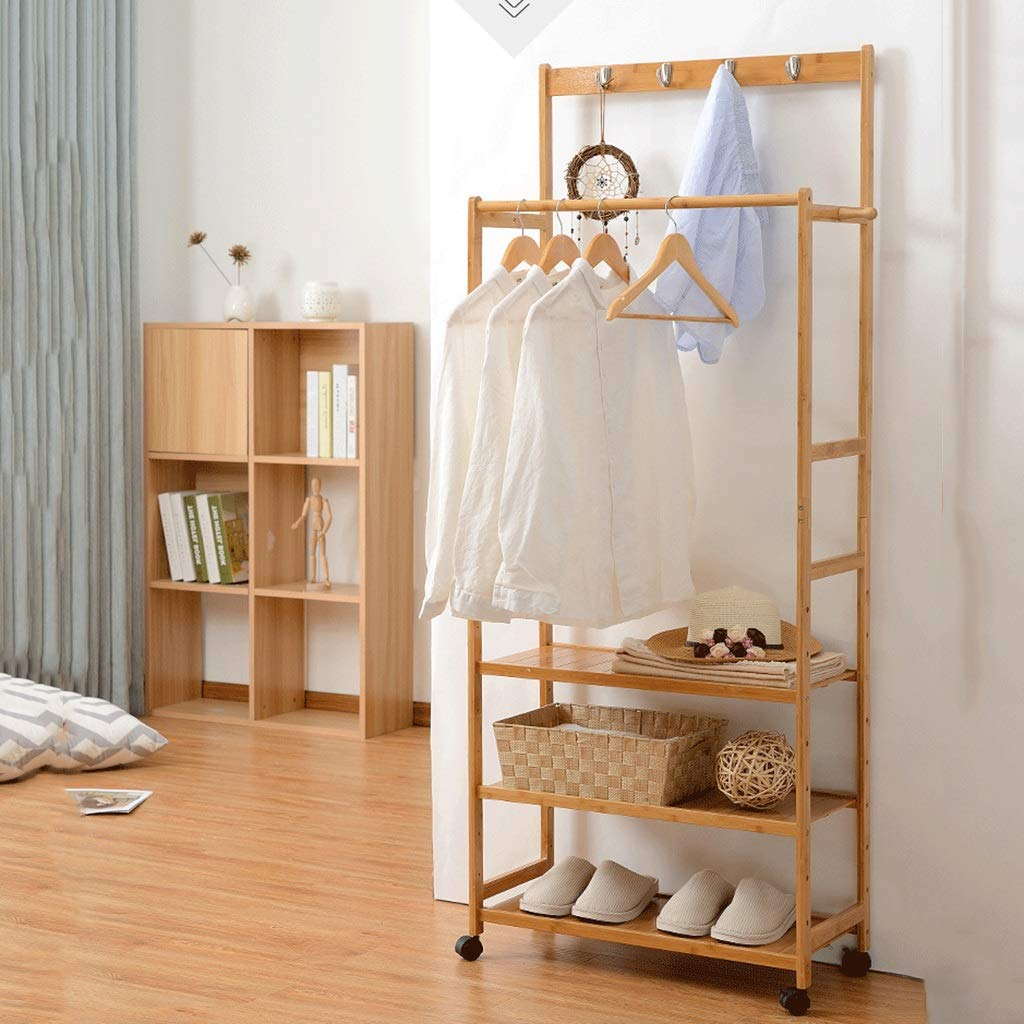 Amazon.com: GYY - Perchero doble para dormitorio, de madera ...