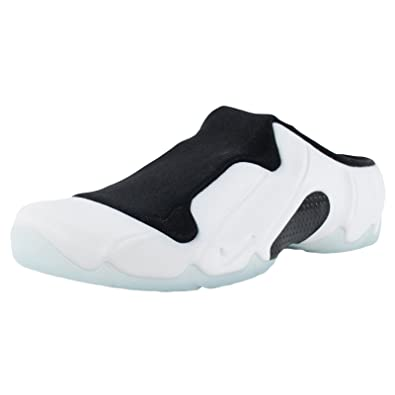 2a668b944a0 Nike Men s Solo Slide Clogposite Foamposite Shoes. Size 7. WHITE WHITE-BLACK