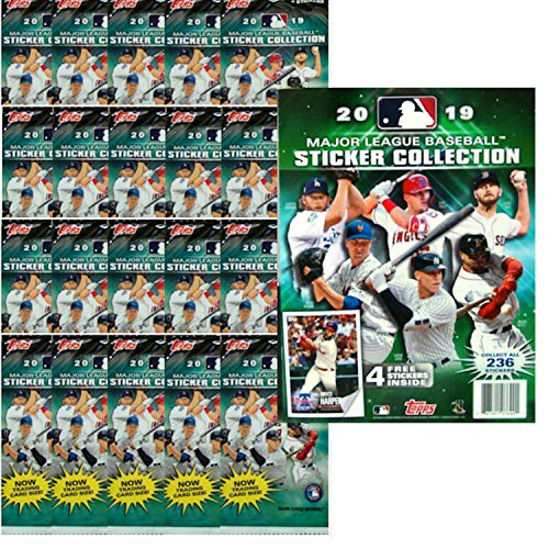 - 2019 Topps MLB Baseball Sticker Starter Kit (20 packs & 1 album)