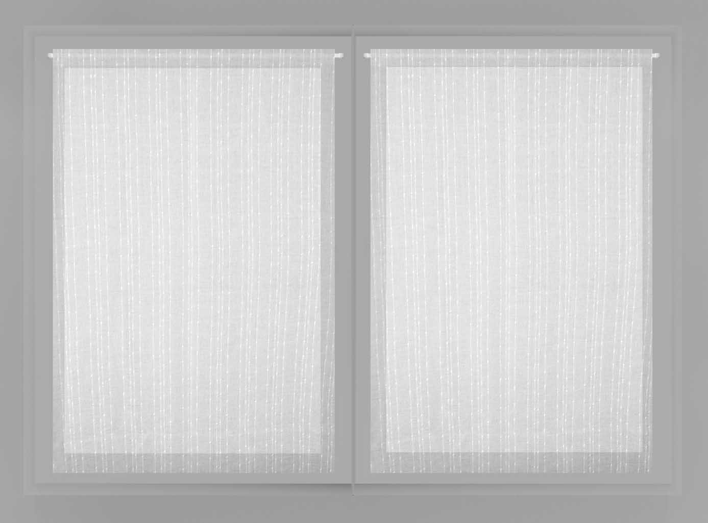 Soleil d'Ocre Maelis Paire de Brise Bise, Polyester, Blanc, 60x90 cm Selartex 043032