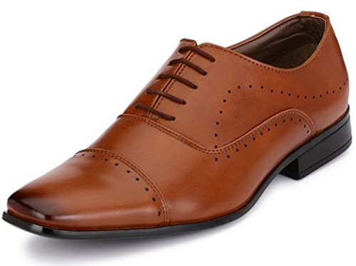 793c7d954e29 Afrojack Men s Corporate Synthetic Leather Formal Shoes  Buy Online at Low  Prices in India - Amazon.in