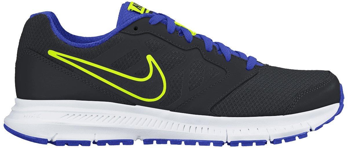 cf8a42750db8 Galleon - Nike Mens Downshifter 6 Black Black Racer Blue Volt Running Shoe  13 Men US