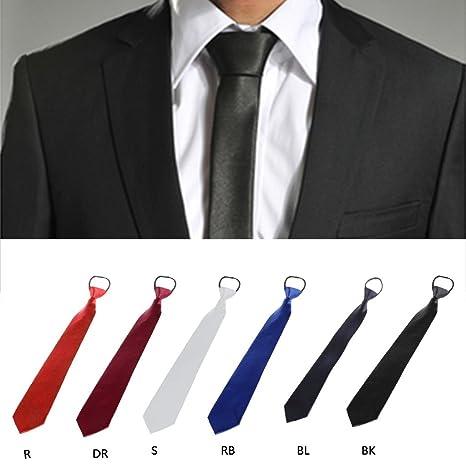 Kalttoy - Corbata para hombre de color sólido con cremallera ...