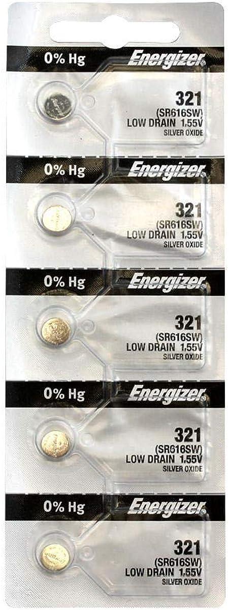 Energizer 321 Batterie Sr616sw 5 Stück Uhren